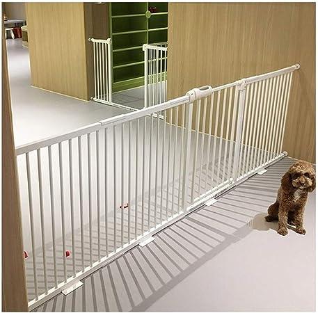 AAAGuardrail Ampliable Seguridad del Bebé Puerta For Mascotas Door Bar Escalera Cerca Largo Súper Gran Puerta Anti-Perro Cerca del Perro Chimenea (Color : White, Size : 63-67cm): Amazon.es: Hogar