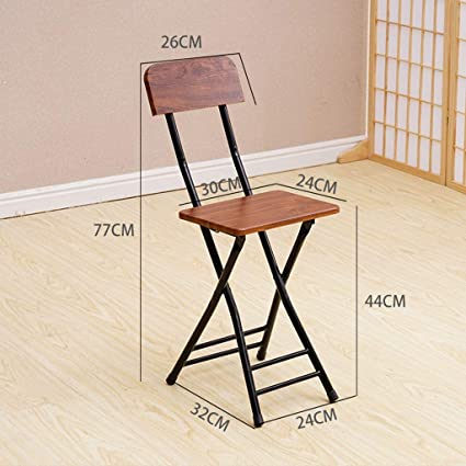 Amazon.com: Bedroom Folding Chair, Metal Wood Bench Non-Slip ...