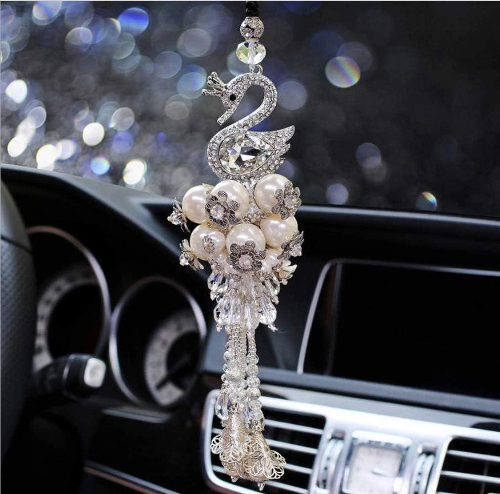 C Crystal Snowflake Car Rear View Mirror Hanging Accessories SZWGMY Car Mirror Pendant,Crystal Car Rear View Mirror Pendant Hanging Decorations Ornament