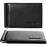 XCSOURCE® Black Ultra Thin Creative Design Genuine Leather Removable Flip Up Money Clip Credit/ID Card Holder Purse for Men MT196