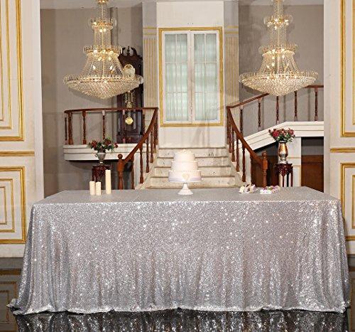 - PartyDelight Sequin Tablecloth, Wedding, Table Topper, Rectangular, 90