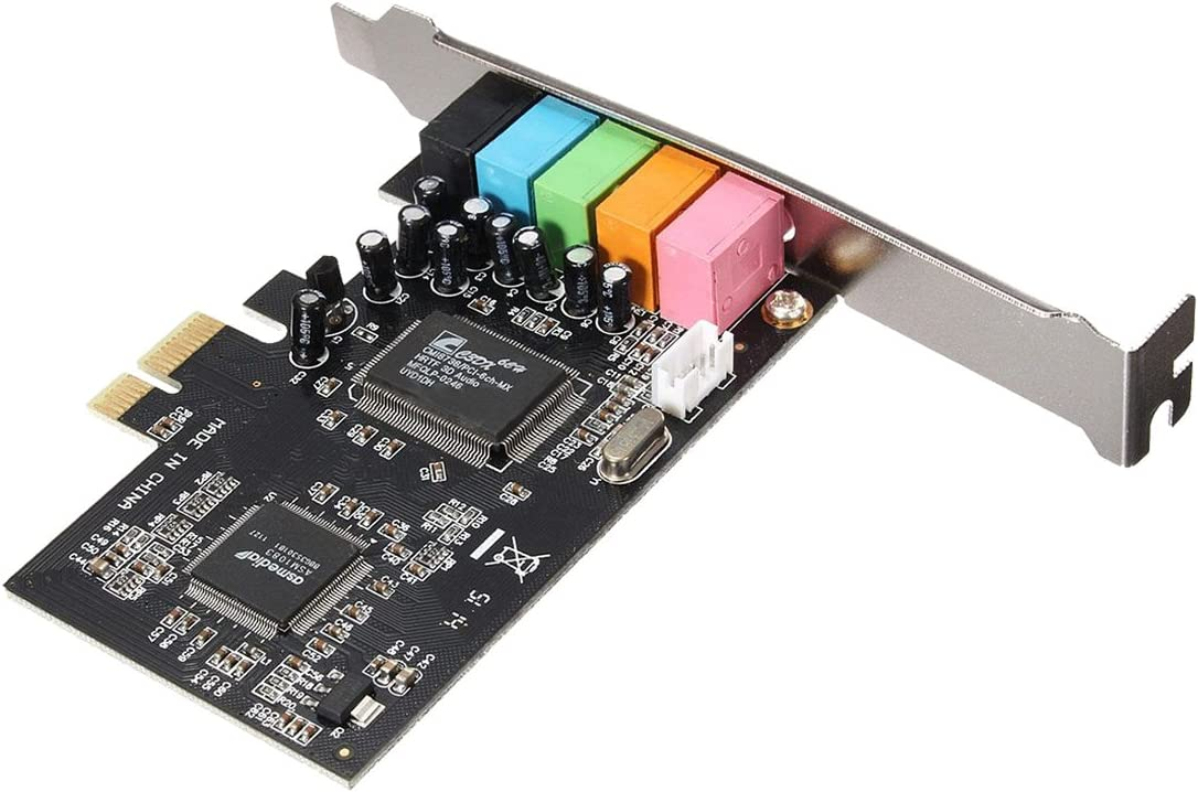 PCI-E 5.1 Sound 6 port sound card CMI8738 cinema stereo Surround Sound Card SODIAL R