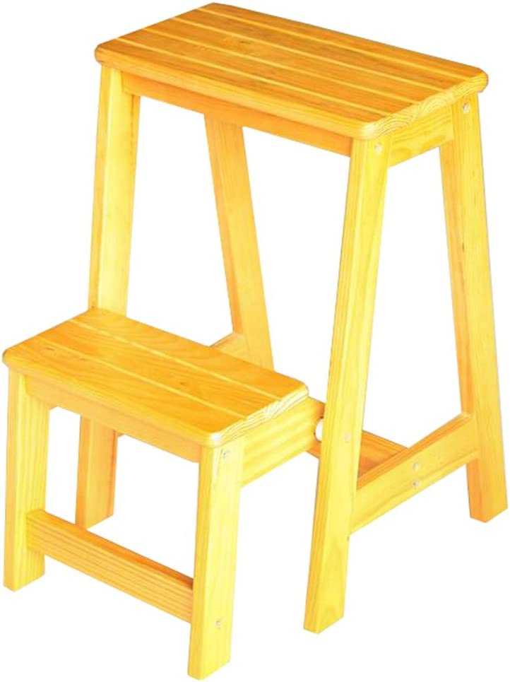 LAXF- Sillas Escalera Plegable Madera Taburete de Madera de Dos Niveles Taburete Home Furniture Rack Step Stool (Color : #2): Amazon.es: Hogar