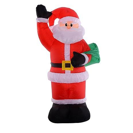 Christmas Xmas Santa Claus Bag 8 Ft Airblown Inflatable Decor Lawn Yard  Outdoor