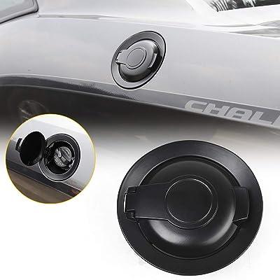 RT-TCZ Gas Cap Cover Fuel Filler Door Accessories for 2015-2020 Dodge Challenger(Matte Black): Automotive