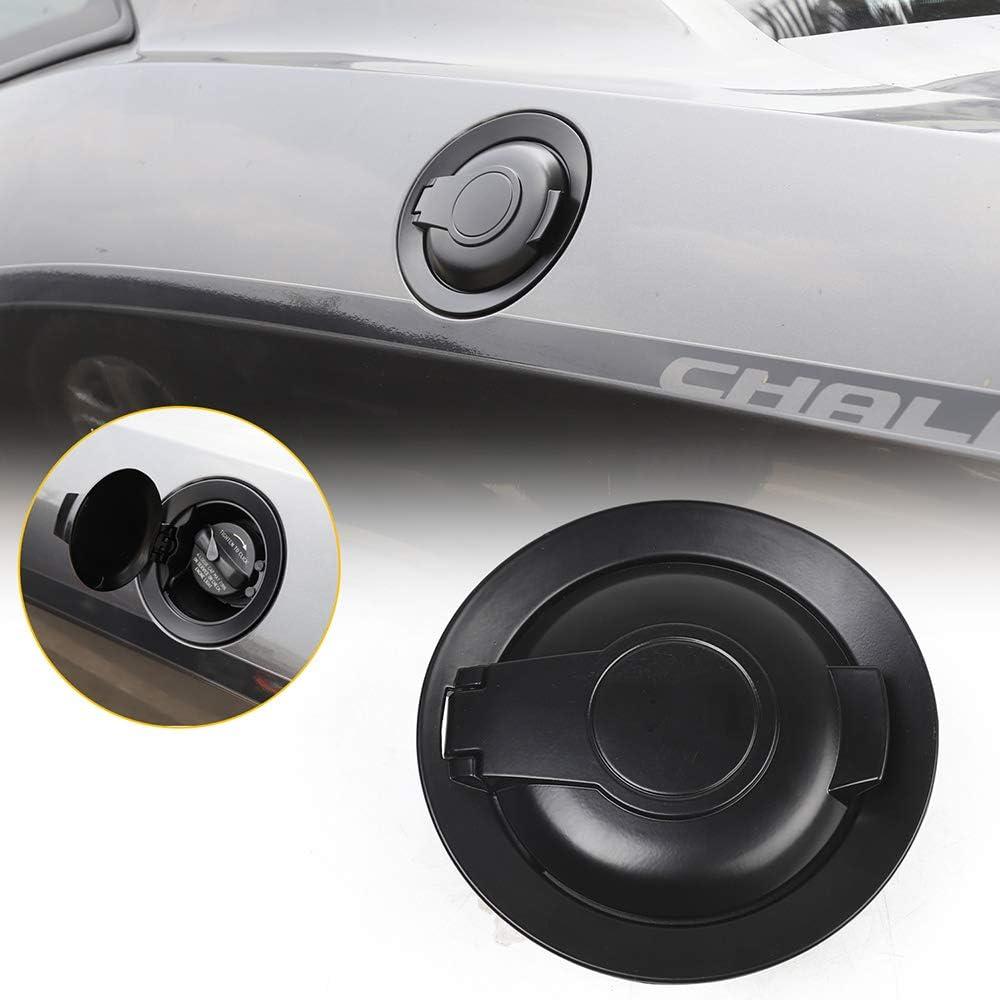 RT-TCZ Gas Cap Cover Fuel Filler Door Accessories for 2015-2019 Dodge Challenger Matte Black