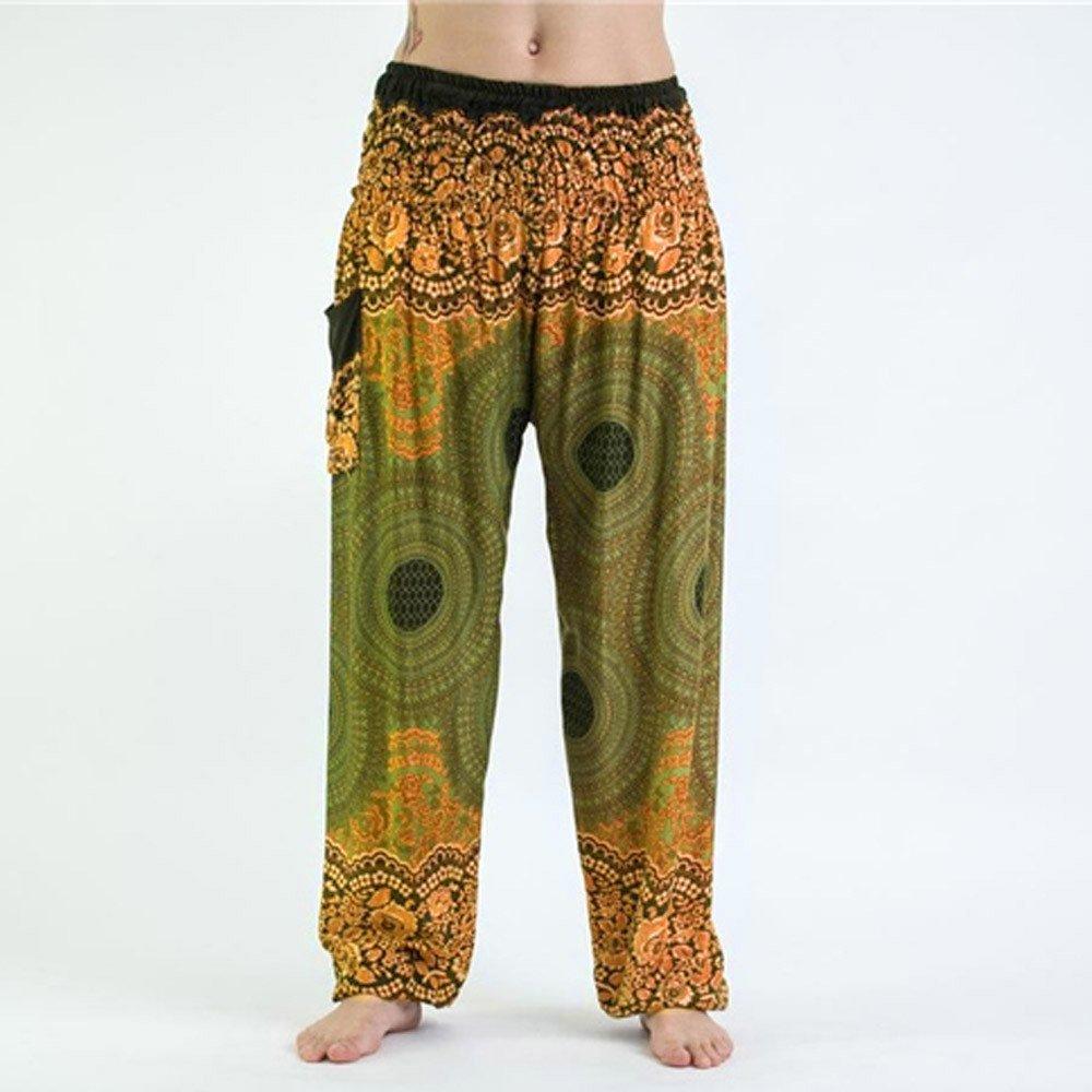 TUDUZ Pantalones Hombre Mujer De Harén Tailandés Pantalones ...