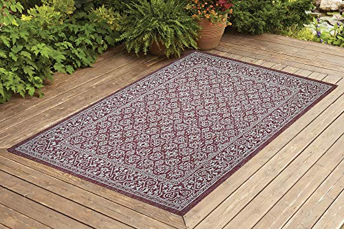Contemporary Indoor/Outdoor Sisal Area Rug Rug Sensation Collection Woven, Durable, and Easy Cleaning | Machine Rug for Living Room, Kitchen, Garage, Kids Room etc. | 8x10 | Brick