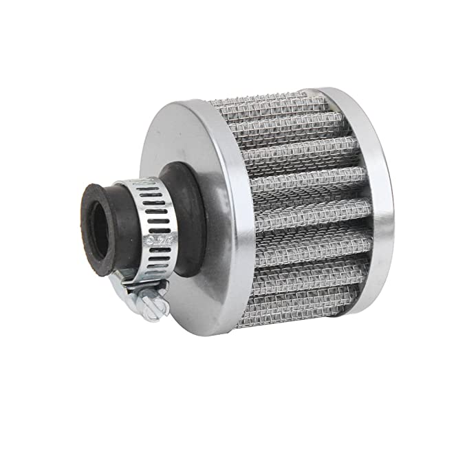 12mm Filtro Entrada de Aire Frío Cárter De Ventilación Turbo para Motor de Coche Rojo: Amazon.es: Coche y moto