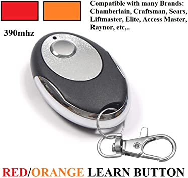 Craftsman 139.53681 Remote Compatible with Red//Orange Learn Button 390MHz Chamberlain 953CB Garage Door Openers Replacement Remote 2 Pack for LiftMaster 970LM 971LM 972LM 973LM
