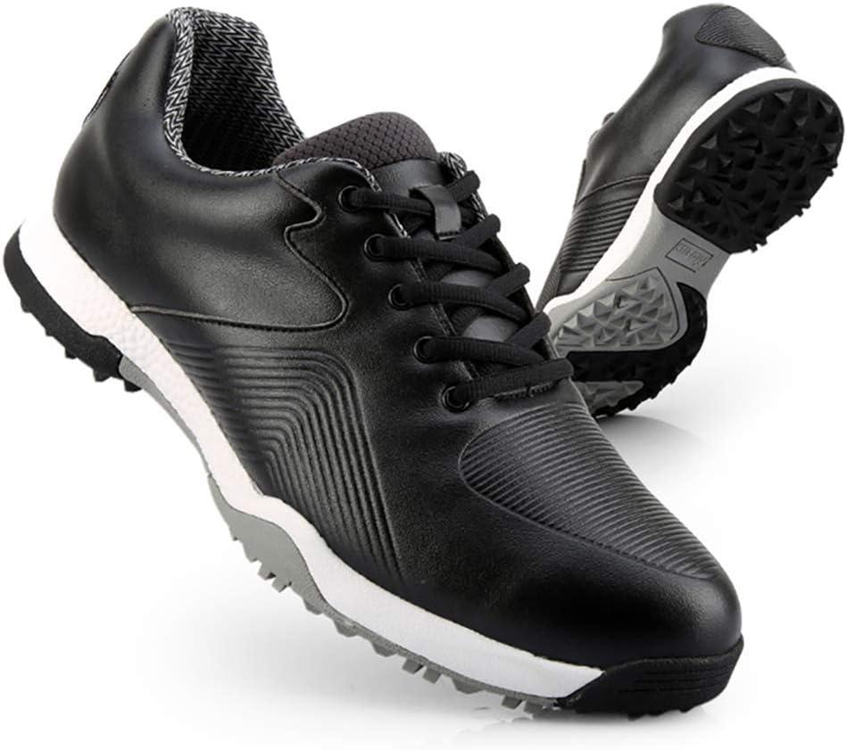 GRASSAIR Zapatos de Golf para Hombre, Zapatillas de Deporte Ligeras Impermeables, Zapatos de Golf Transpirables para Hombres, para cancha de Entrenamiento de Golf al Aire Libre y bajo Techo,Negro,41: Amazon.es: Deportes y