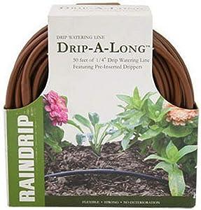 """Raindrip 1/4"""" Drip-A-Long, 50' Brown Coil"""