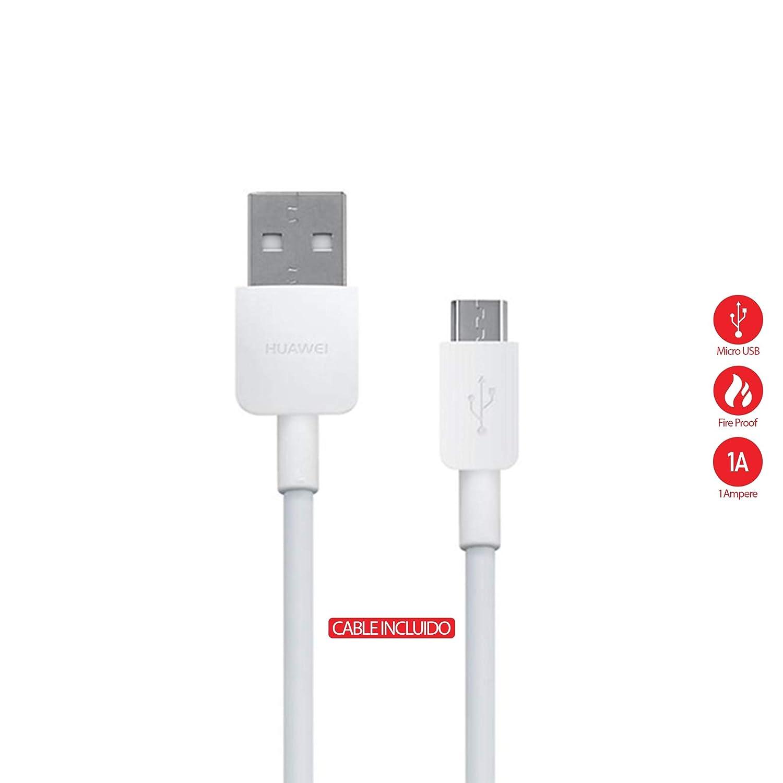 Huawei HW-050100E01W cargador de viaje 1A + Cable Micro USB para Huawei P8, P8 Lite, P9 Lite (Bulk)