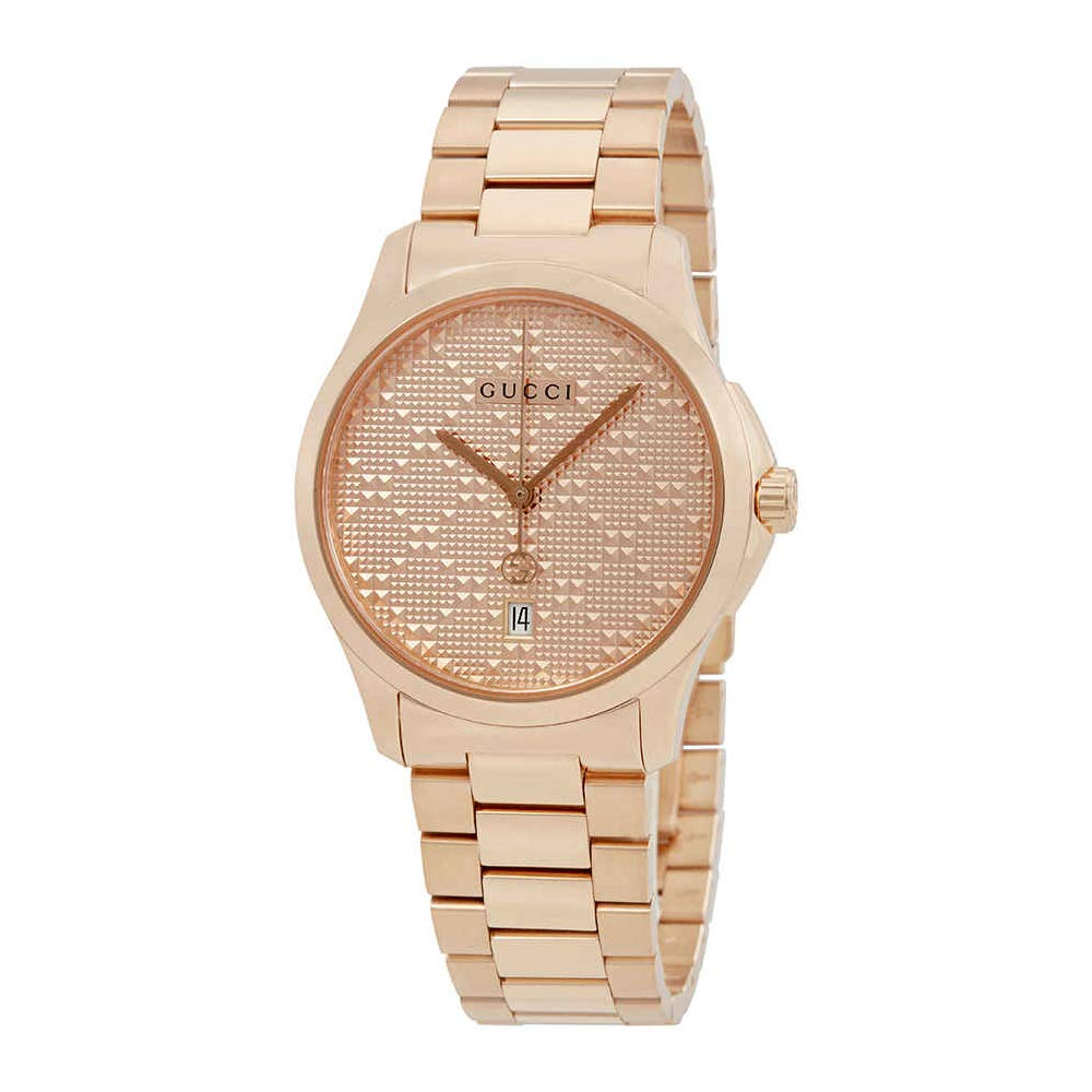 bd8130973c112f Amazon.com  Gucci G-Timeless Mens Rose Gold-tone Watch YA126482  Watches