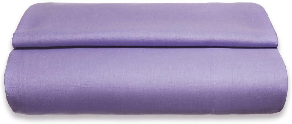 Sancarlos - Sábana encimera , 100% Algodón percal, Color lila, Cama de 150 cm: Amazon.es: Hogar
