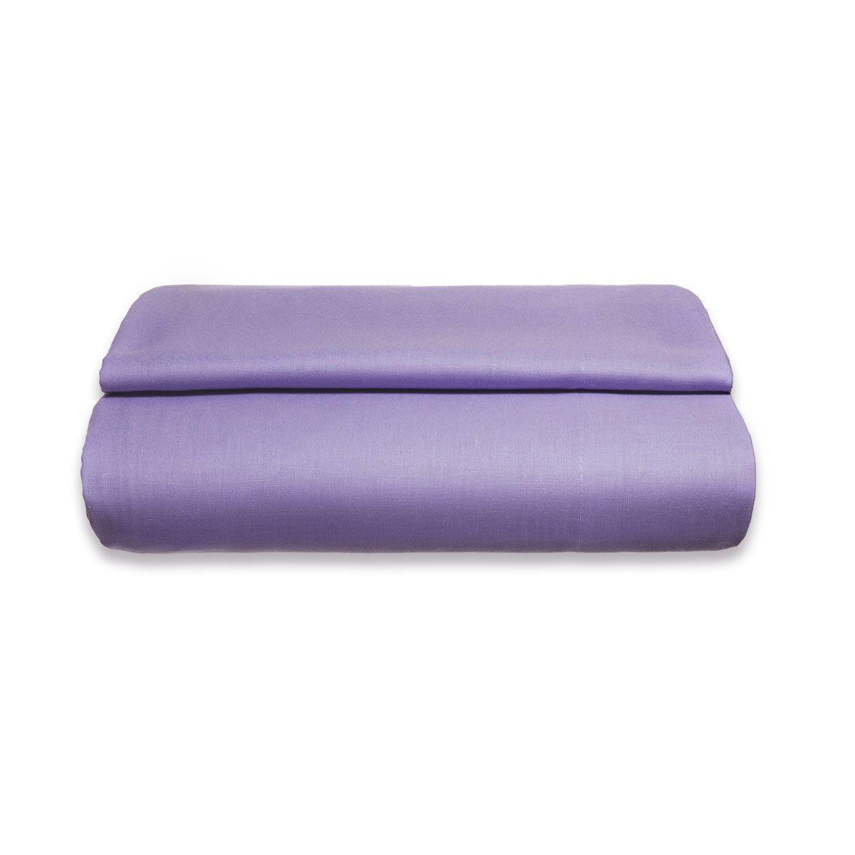 Sancarlos - Sábana encimera , 100% Algodón percal, Color lila, Cama de 90 cm: Amazon.es: Hogar