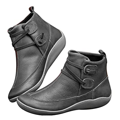 KKLU 2020 New Arch Support Boots Ankle Boots Women | Ankle & Bootie