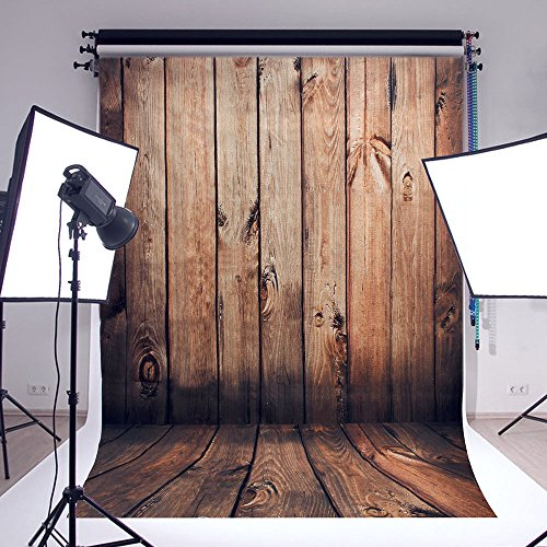Price comparison product image FLORATA Wooden Wall NEW Vinyl Fabric LESS CREASE Photography Backdrops Photo Studio Background Studio Props Grade AAAAA (Updated Material)