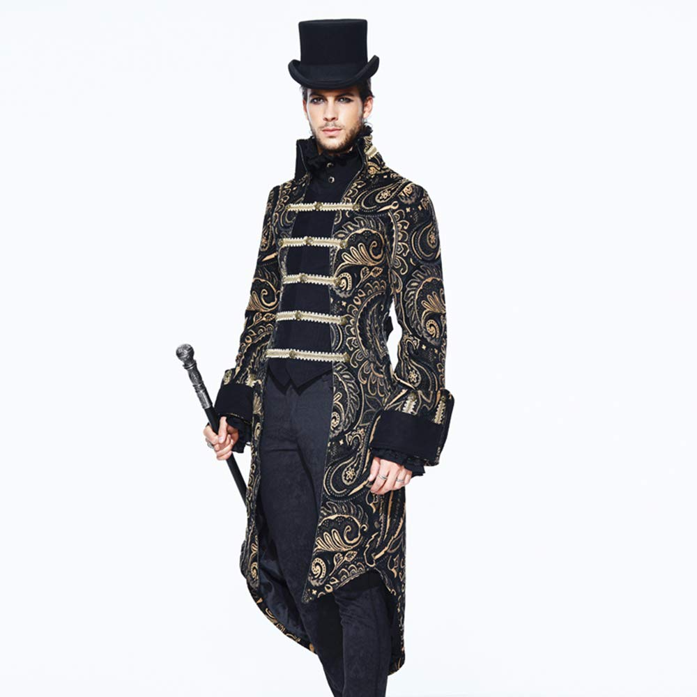 Stehkragen Männer Steampunk Fashion Langarm Jacke Devil 1l3TFKJc