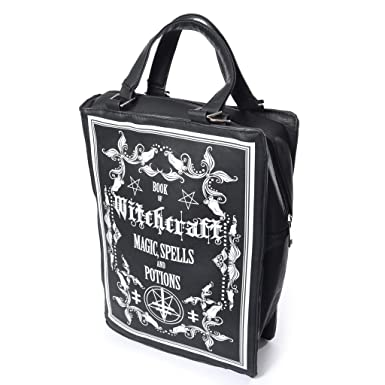 808279d568aa45 Amazon.com | WITCHCRAFT SPELLBOOK - Book Shaped Bag | Messenger Bags