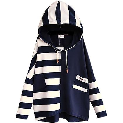 チーアン Tiann レディース 森ガール 服 長袖 フード付き パーカー 大きいサイズ 春 秋 冬 シンプル ゆったり プルオーバー