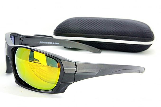 Gafas de sol polarizadas Lente amarilla Lente reflectante ...