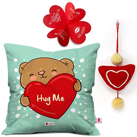 Buy Indigifts Valentine Day Special Gift Hug Me Quote Cute Teddy