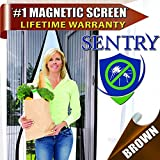 MAGNETIC SCREEN DOOR - Many Sizes and Colors to Fit Your Door Exactly - US Military Approved - Reinforced With Full Frame Hook and Loop Fasteners to Ensure All Bugs Are Kept Out - Tough and Durable