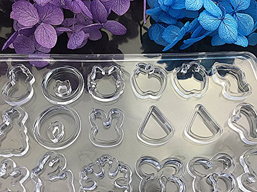 Yalulu 1Pcs Multi Clear Silicone Mold For Making Jewelry Stud Earrings DIY Mold Resin Casting resin molds for jewelry
