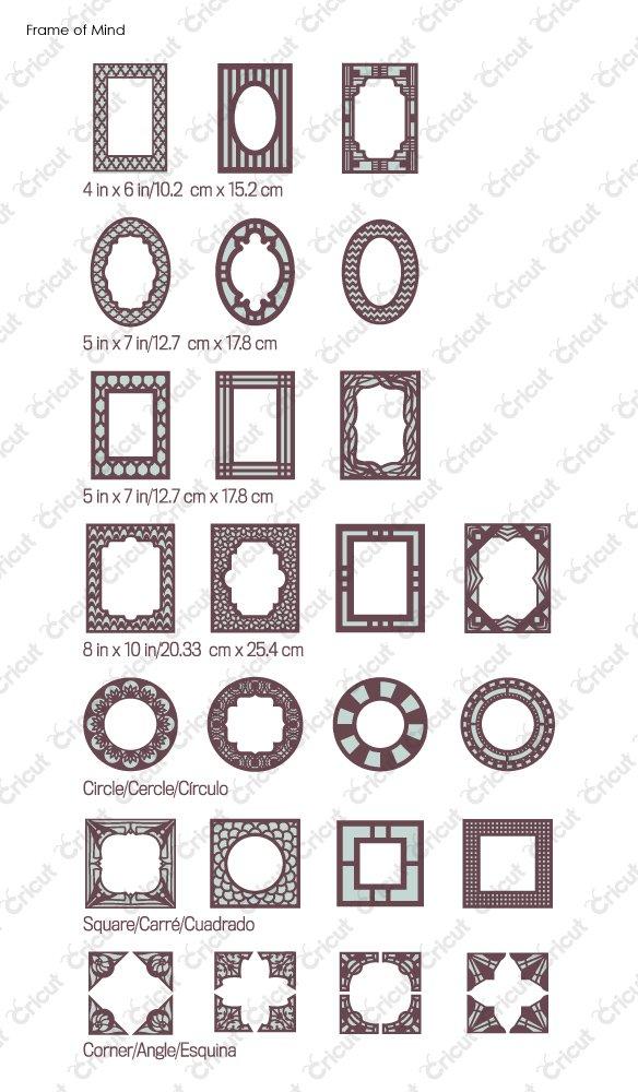Cricut Projects - Stampo cornice per per per foto, per fustellatrice e23795