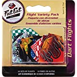 Fat Cat Assorted Poly Pro Dart Flights: 10 Sets of Standard Flights, 30 Pieces