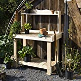 Cheap Cedar Potting Bench with Shelves for Amateur and Professional Gardeners