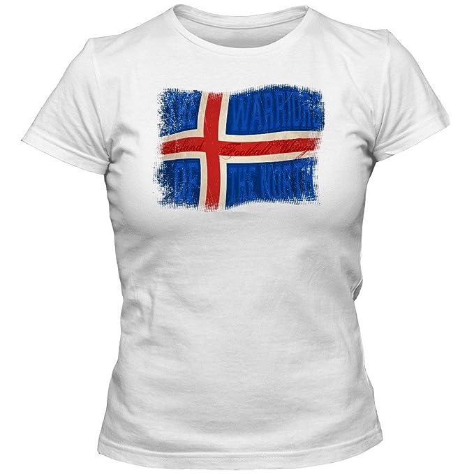 Islanda Campeonato de Europa 2016#13 Camiseta | Mujer | Knattspyrna | T-Shirt | Fútbol | Bandera | Jersey | Vikingo | Uh! Uh! Uh!: Amazon.es: Ropa y ...