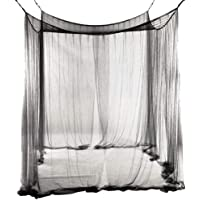 JYCRA - Mosquitera para cama de matrimonio, rectangular