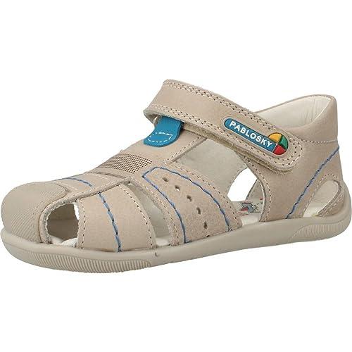 Sandalias y chanclas para ni�o, color Hueso , marca PABLOSKY, modelo Sandalias Y Chanclas Para Ni�o PABLOSKY GRAFITO Hueso