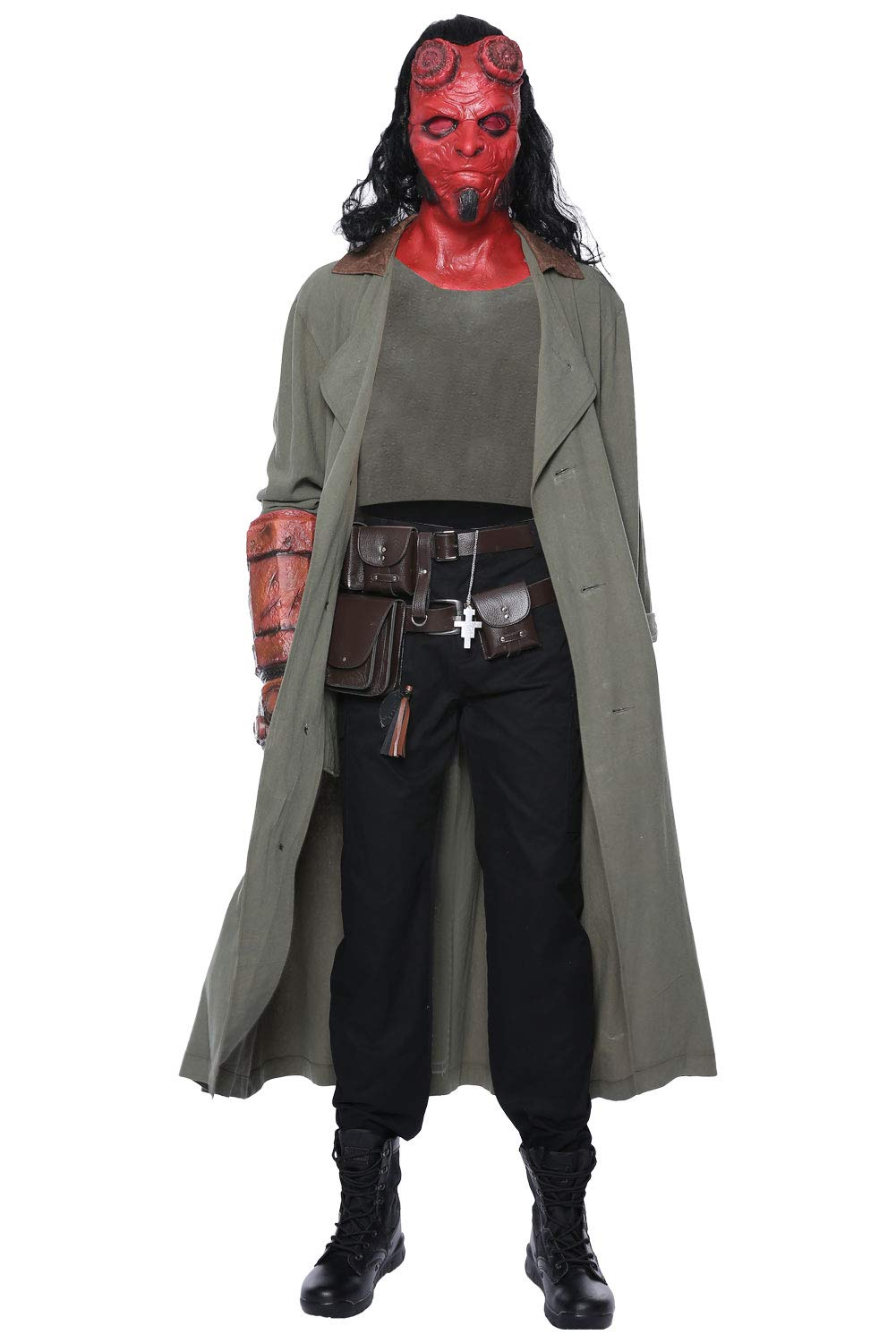 Vert S rougeJade Hellboy  Rise of The Blood Queen Cosplay Costume Homme L