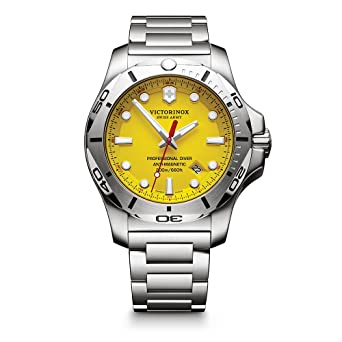 146559eb6 Victorinox Swiss Army Men's I.N.O.X. Swiss-Quartz Watch with  Stainless-Steel Strap, Silver