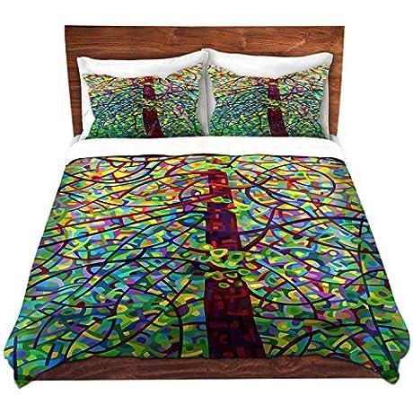 DiaNoche Designs Mandy Budan Kaleidoscope Brushed Twill Home Decor Bedding Cover 8 King Duvet Sham Set