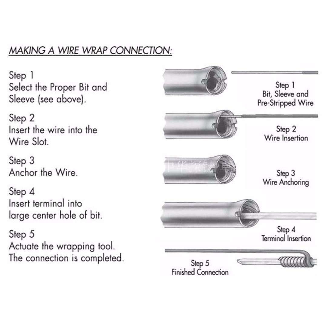 WSU Wire Wrap Tool Strip Band Herramienta para enrollar cables AWG 30