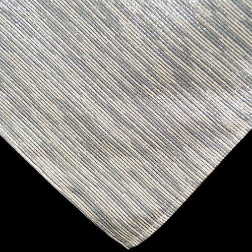 Silver and Cream Metallic Stripe 54 inch Square Table Cloth