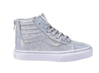 b1eddb8633 Vans Kids Sk8-Hi Zip (Little Kid Big Kid) Metallic Glitter Girl s