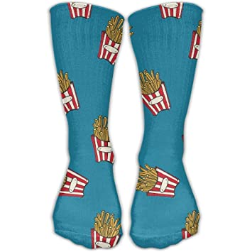 zengjiansm Calcetines Altos French Fries Cotton Crew Running Socks Ankle Dress Comfortable Socks for Men&Women