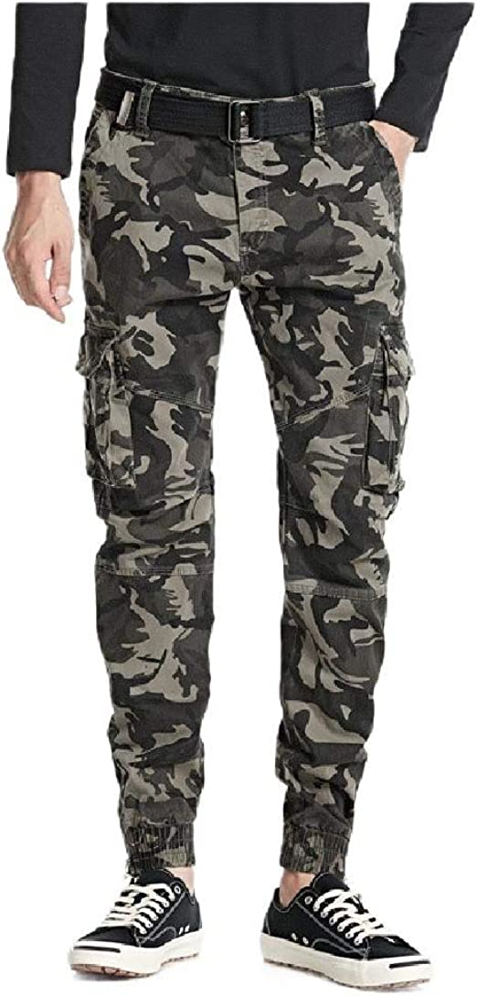 Romancly Mens Casual Reg and Big and Tall Sizes Camouflage Cargo Pant Golf Pant