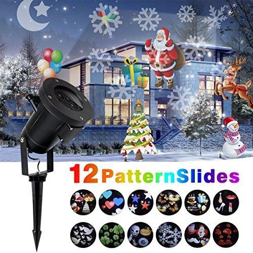 Naisidier Luz de Proyección Naisidier 12 Tarjeta LED Decoración ...