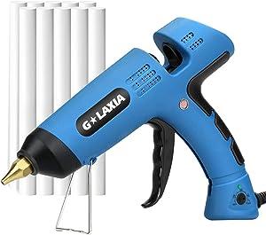 Hot Melt Gule Gun, GALAXIA 100W Heavy Duty Hot Glue Gun with 10pcs Glue Sticks and Temperature Adjustable(100℃-220℃) for Home Repairs, Plastic, Paper Card, Fabric Adhesive Kit