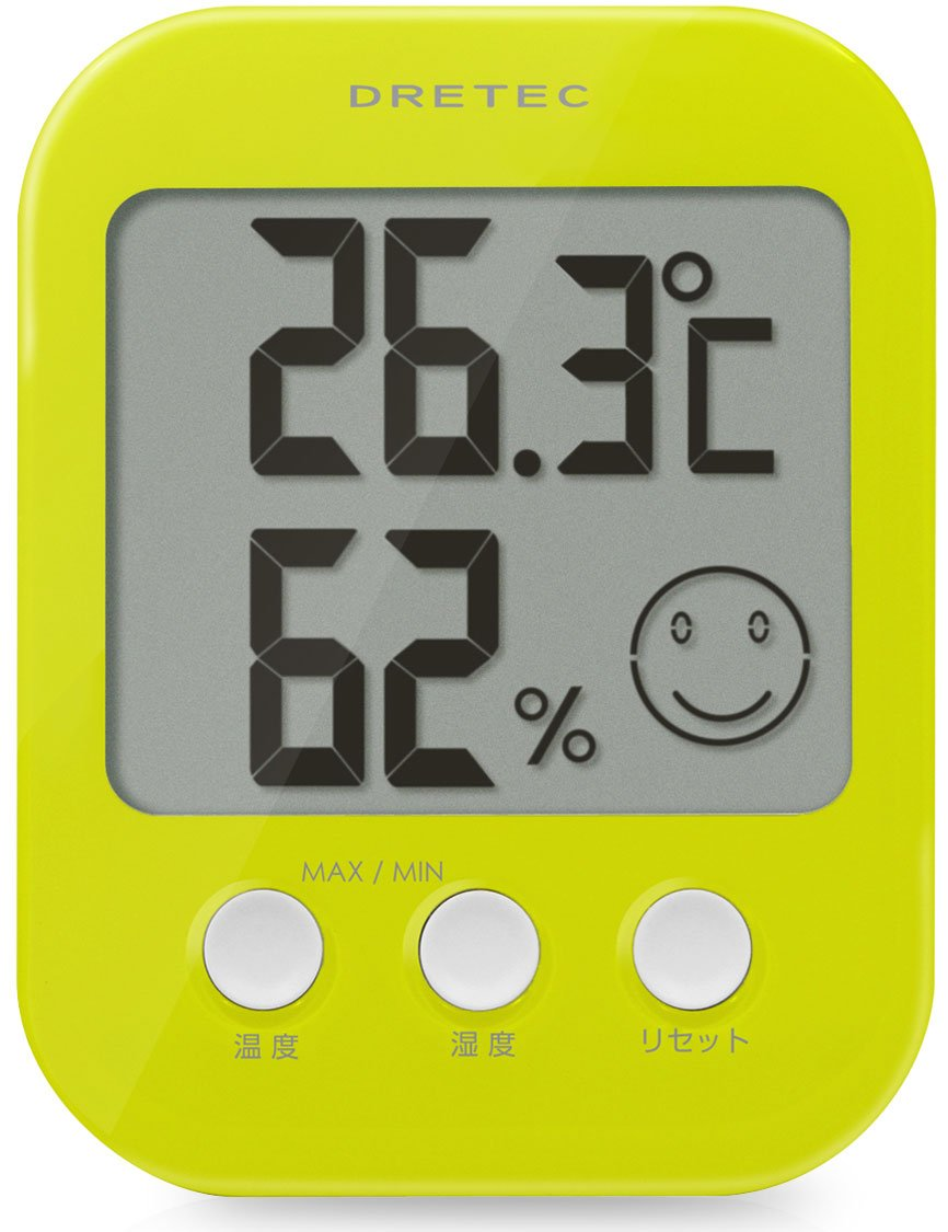 DRETEC digital thermo-hygrometer ' Opsys ' Green O-230GN