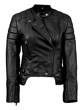 fcf3cff613a FE Meteor Fashion Leather Motorcycle Jacket Women   Black or Blue ...
