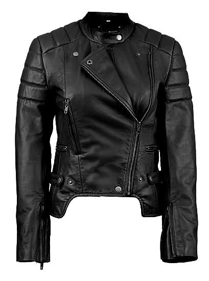Fe Meteor Fashion Leather Motorcycle Jacket Women Black Or Blue