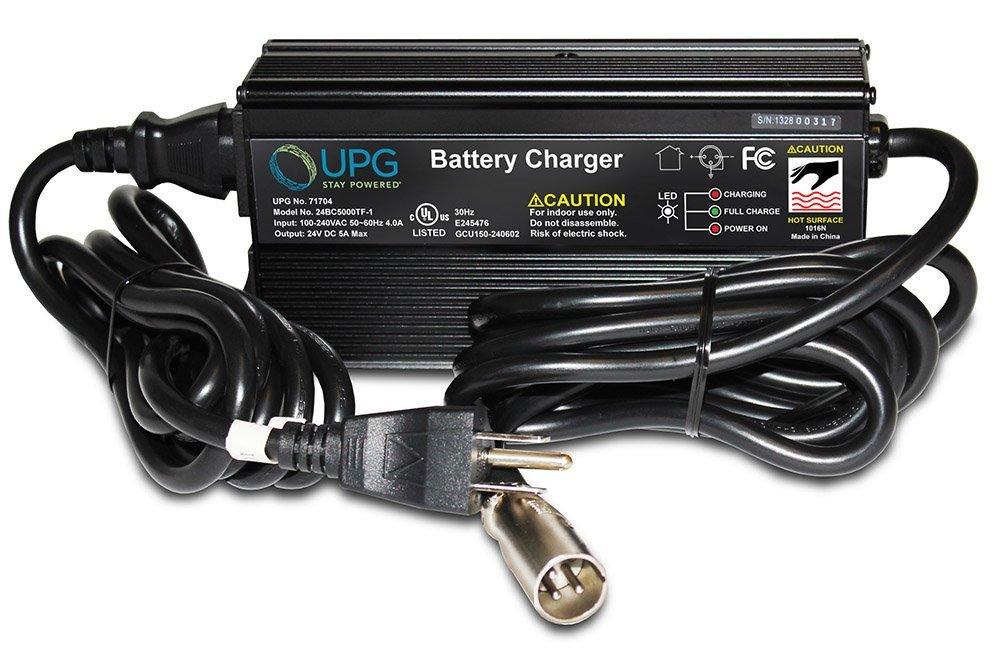 24v 5 amp Premium Quality Heavy Duty XLR off-board Sealed AGM Universal 24BC5000TF-1 battery charger with fan, UL¨ Listed replaces LS24/4-08, HP8204B, HP-8204B, HP2048B, HP1211B, HP-1211B, 17750, JAC0524 XLR, CH5403, BC-24-5000F, WS150-1, LP-2440, AU-092