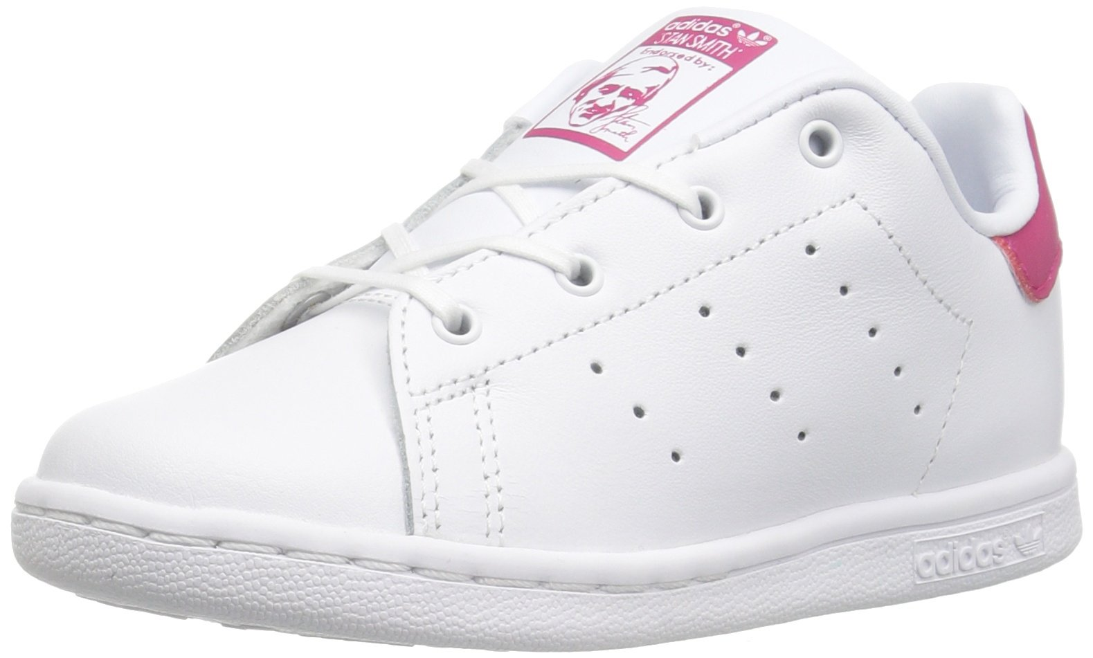 4441468059a ADIDAS ORIGINALS KIDS  STAN SMITH I SNEAKER WHITE WHITE BOLD PINK 10 ...